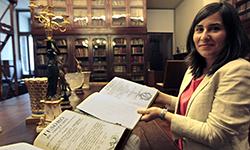 Foto: Investigadora da UTAD localiza Manuscrito do século 18 julgado perdido