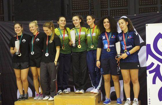 Foto: Medalha Bronze Equipa Tenis Mesa Feminino