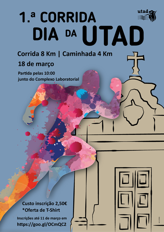 Cartaz: Primeira corrida dia da UTAD