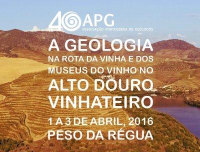 Banner: A Geologia na Rota da Vinha e dos Museus do Vinho no Alto Douro Vinhateiro