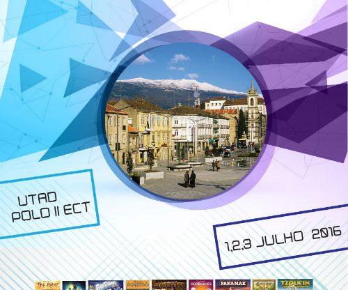 Cartaz: 1ª convenção de jogos de tabuleiro