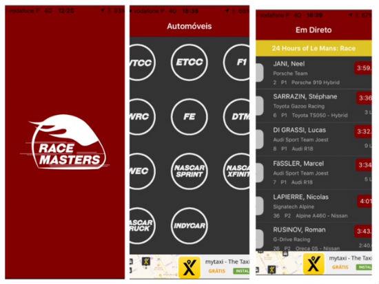 Foto: Aplicação mobile corridas