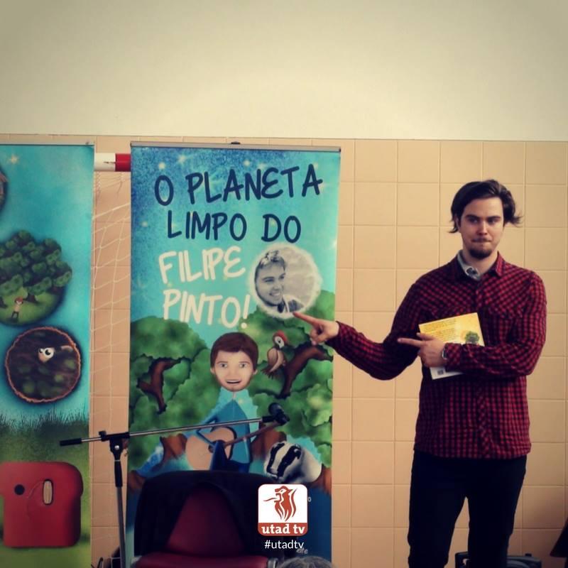 "Foto: Filipe Pinto apresentou ""Planeta Limpo"" nas escolas de Vila Real"