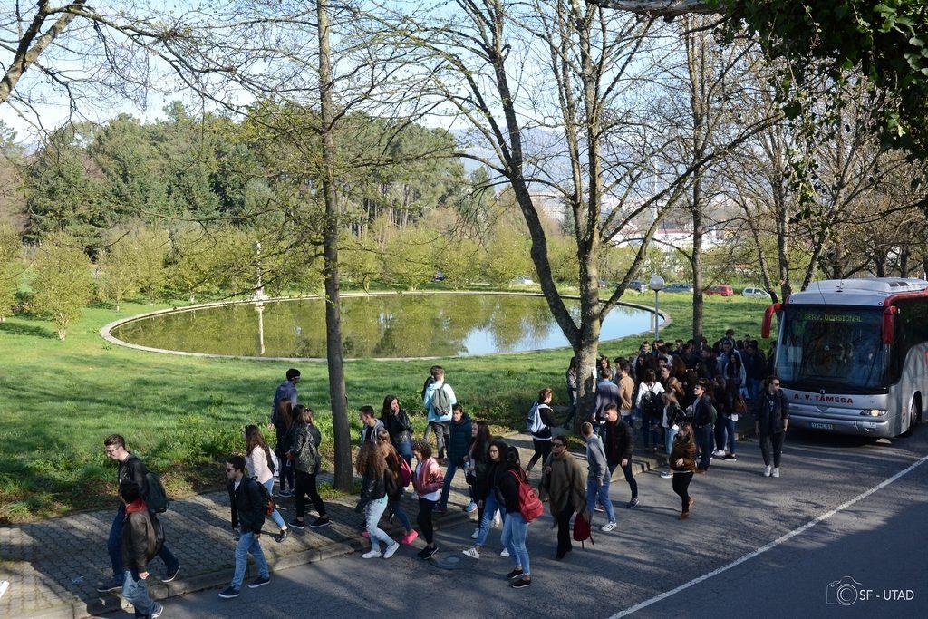 Foto: Chegada dos alunos a UTAD