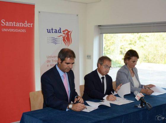 Foto: Assinatura do Novo Convénio Santander Totta e UTAD